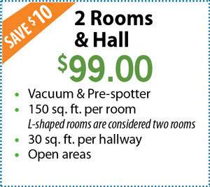 2 Rooms & Hall $99