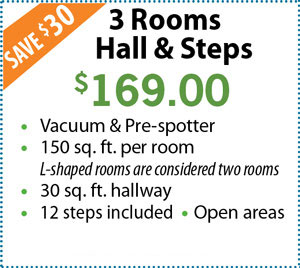 3 Rooms, Hall & Steps $169