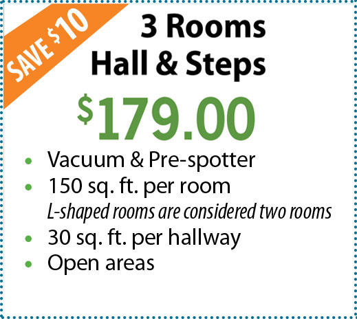 3 Rooms, Hall & Steps
